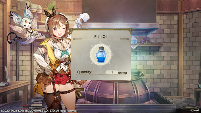 Crafting Fish Oil in Atelier Ryza 2: Lost Legends & the Secret Fairy