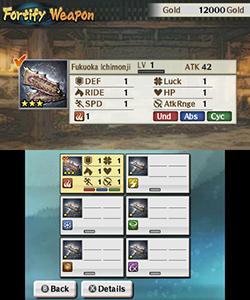Fortify Weapon - Samurai Warriors: Chronicles 3