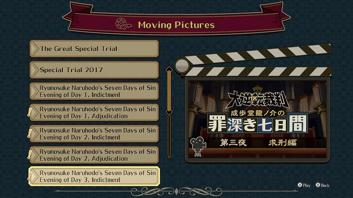 Special Contents in Great Ace Attorney