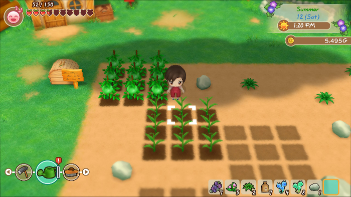 Gardening in Story of Seasons: Friends of Mineral Town