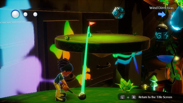 Golf Mini Game in Balan Wonderworld