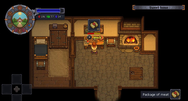 Using the food stamp for meat in Graveyard Keeper