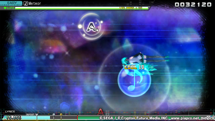 Playing with the Sudden game modifier in Hatsune Miku: Project DIVA Mega Mix