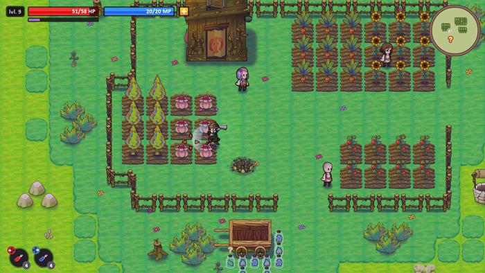 Harvesting crops in WeakWood Throne
