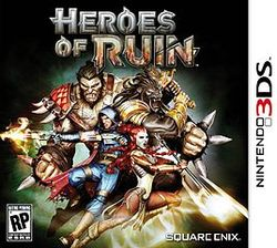 Heroes of Ruin 3DS Game Box Cover Art
