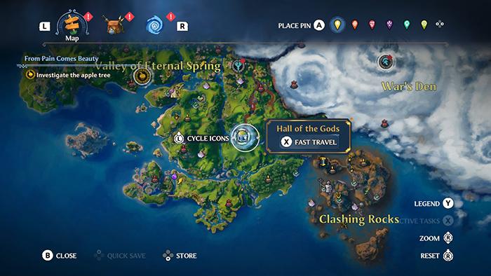 World Map - Immortals Fenyx Rising