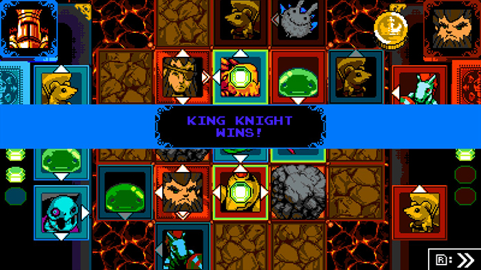 Joustus Match in Shovel Knight: King of Cards
