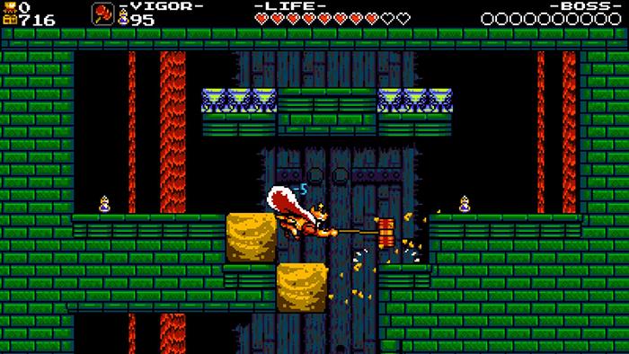 King Knight using Hammer Heirloom