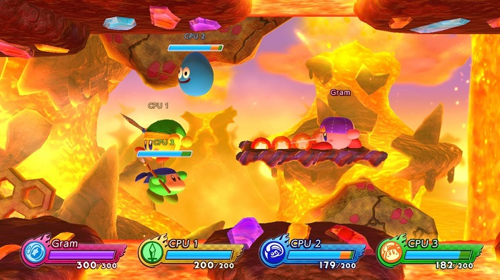 Gameplay in Kirby Fighters 2