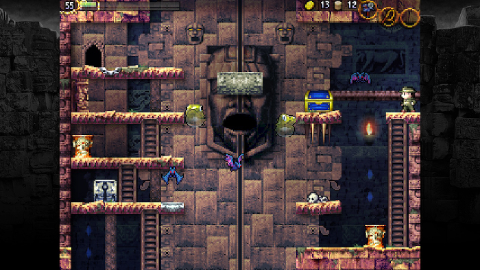 Gameplay in LA-MULANA.