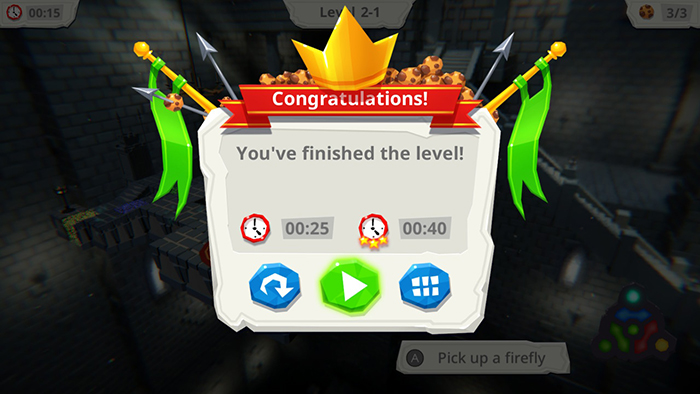 This is what you see as you beat a level in the harder mode.