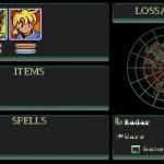 Lossa Screen on retro graphics.
