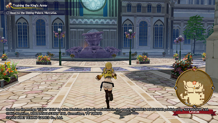 Lucy running in Fairy Tail Game