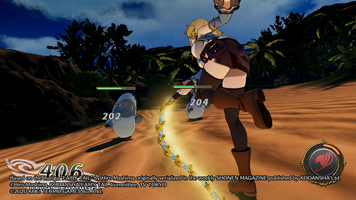 Lucy Whip Attack in Fairy Tail Game