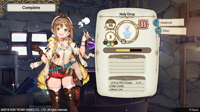 Holy Drop in Atelier Ryza: Ever Darkness & the Secret Hideout