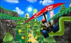 Mario Kart 7 - Gliding