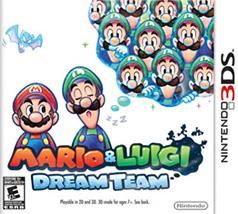 Mario and Luigi: Dream Team Game Box Cover Art
