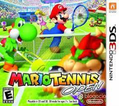 Mario Tennis Open 3DS Game Box Cover Art