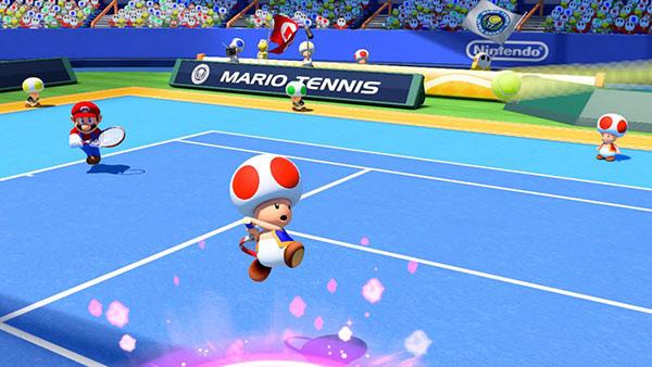 Toad - Mario Tennis Ultra Smash Gameplay