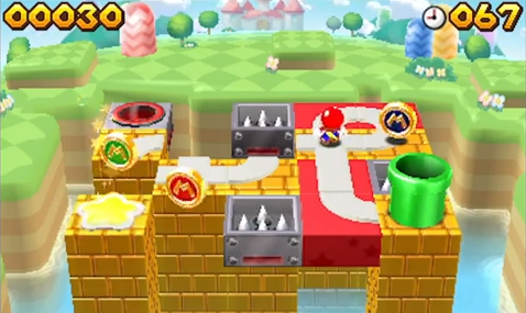 Mario and Donkey Kong Minis on the Move Gameplay for Nintendo 3DS