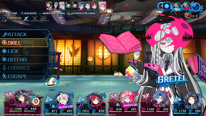Mary Skelter 2 Gameplay
