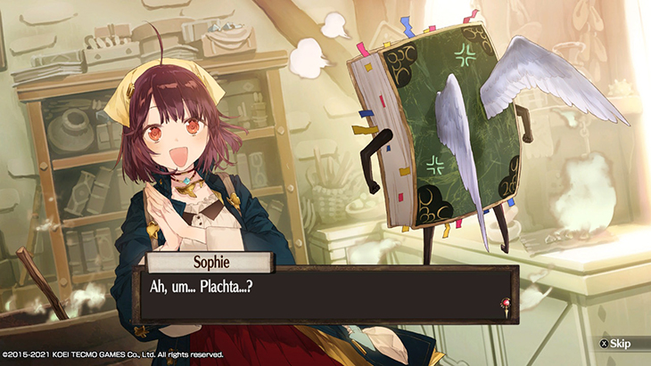 Meeting the talking book in Atelier Sophie DX