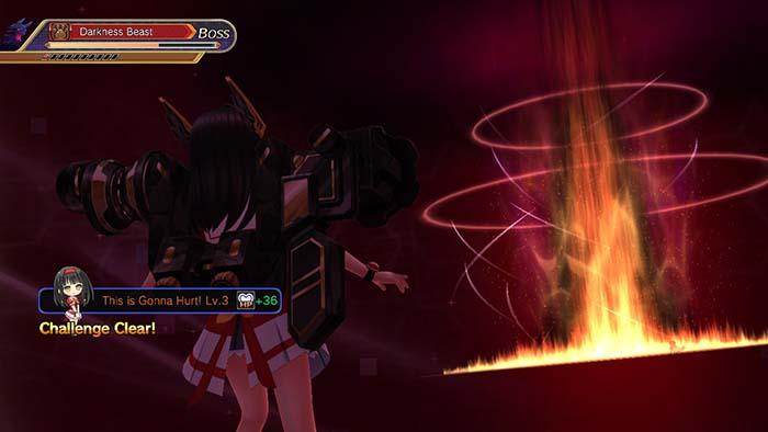 Special skill animated scene in Megadimension Neptunia VII