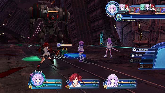 Combat in Megadimension Neptunia VII