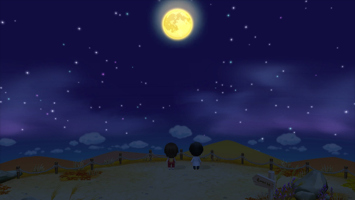 Moon-Viewing day in Story of Seasons: Friends of Mineral Town.