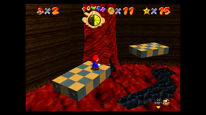 Jumping to higher moving platforms in Super Mario 64 (Switch)