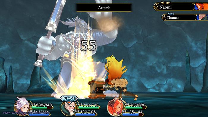 Naomi's hammer attack in Hero must die. again