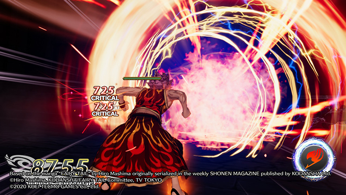 Natsu destroying enemies in Fairy Tail Game