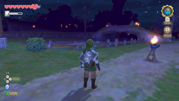 Night time in The Legend of Zelda: Skyward Sword HD