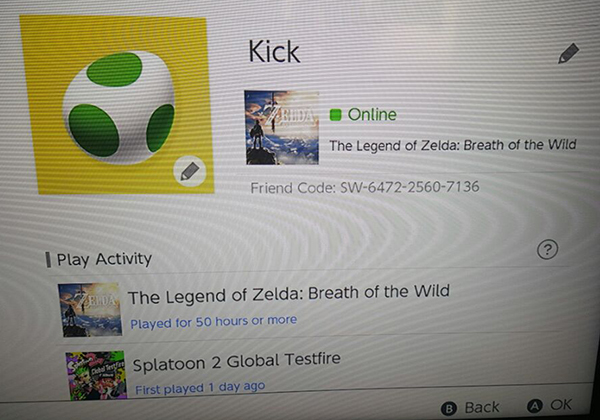Nintendo Switch Friend Code