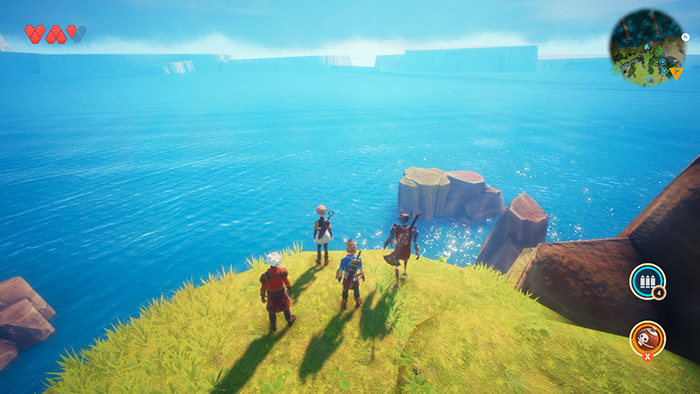 Amazing ocean view in Oceanhorn 2: Knights of the Lost Realm