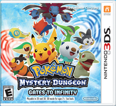 Pokemon Mystery Dungeon: Gates to Infinity 3DS Game Box Cover Art