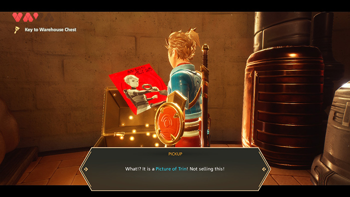 Trin Photo in Oceanhorn 2: Knights of the Lost Realm