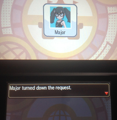 Player turned down the request - Pokemon Sun/Moon