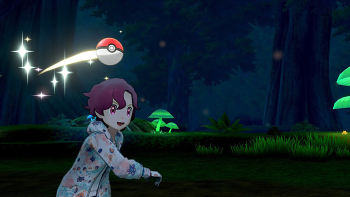 Throwing a pokeball in Pokemon Sword and Shield
