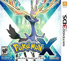Pokemon X 3DS Game Box Cover Art
