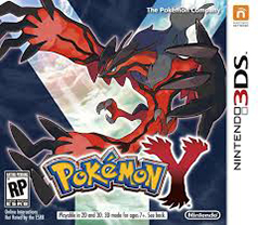 Pokemon Y 3DS Game Box Cover Art