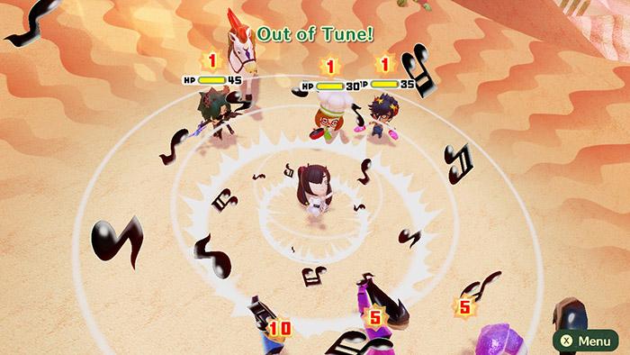 Combat in Miitopia for the Nintendo Switch
