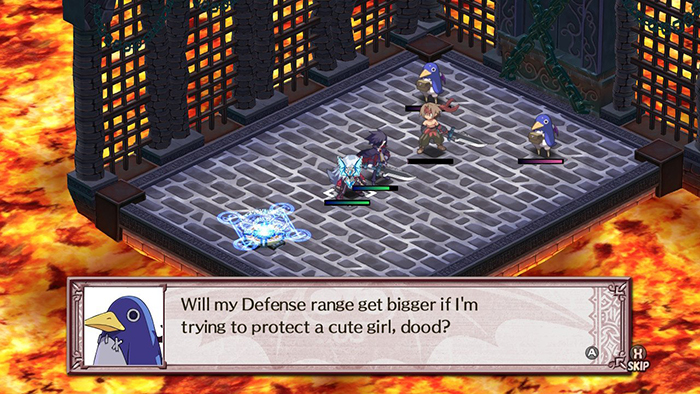 Prinny asking a question in Disgaea 4 Complete+