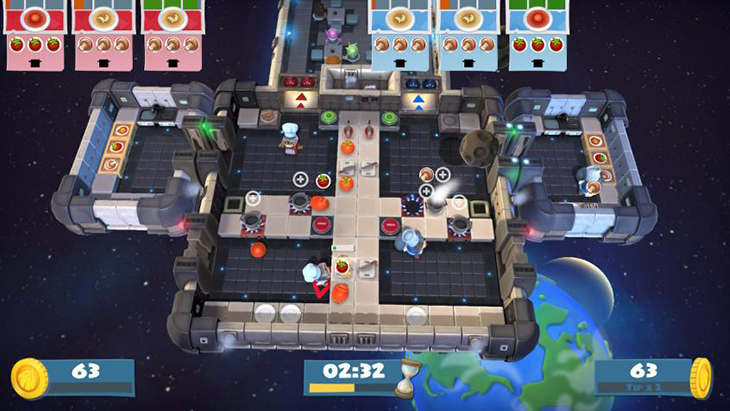 PvP Space Stage in Overcooked All You Can Eat
