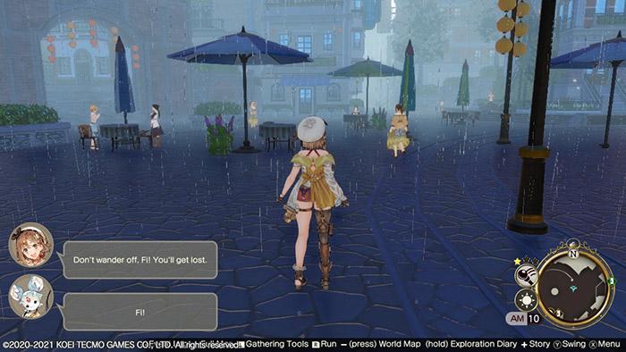 Rain in Atelier Ryza 2 Lost Legends & the Secret Fairy