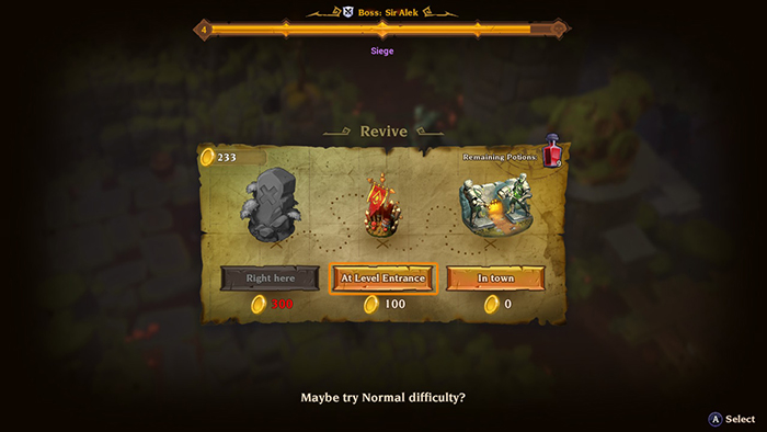 Reviving in Torchlight 3