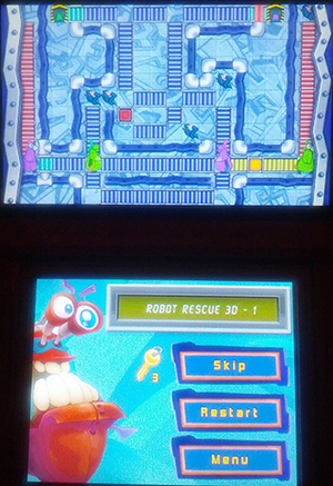 Robot Rescue 3D Gameplay - Nintendo 3DS