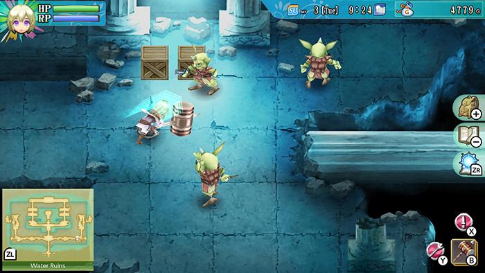 Combat in Rune Factory 4 Special