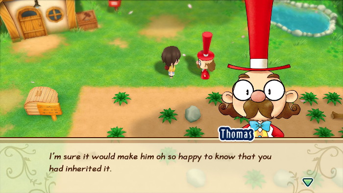 Inheriting the farm in Story of Seasons: Friends of Mineral Town.