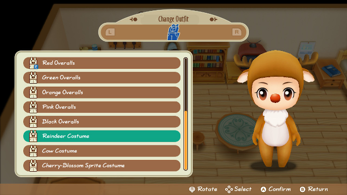 Outfits in Story of Seasons: Friends of Mineral Town.